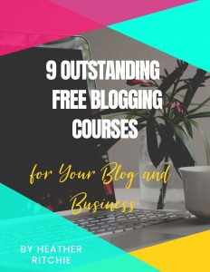 9 Free Courses Checklist Opt-In Blogger's Life for You Cover