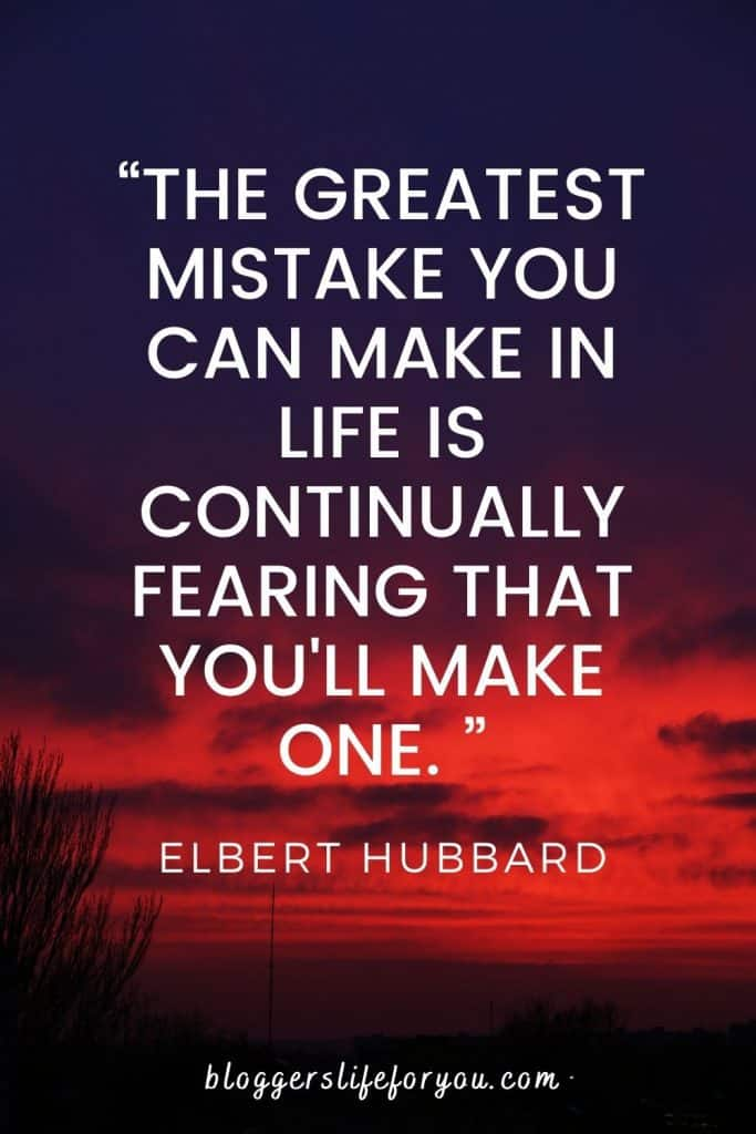 Elbert Hubbard Quote on red and purple sunset picture